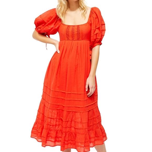 NWT Free People Let's Be Friends Midi Dress Medium